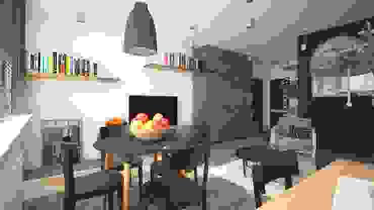 AIN projektowanie wnętrz Ruang Keluarga Gaya Industrial