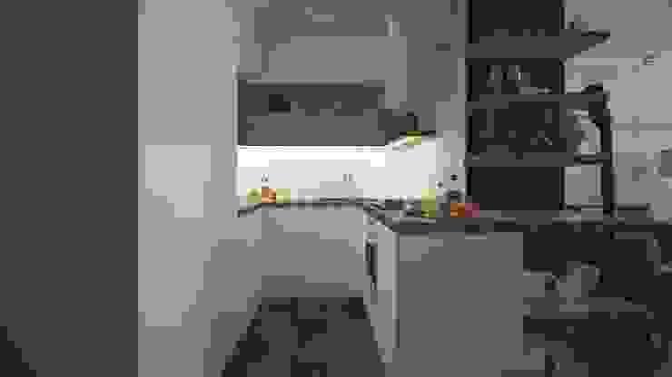 AIN projektowanie wnętrz Cocinas de estilo industrial