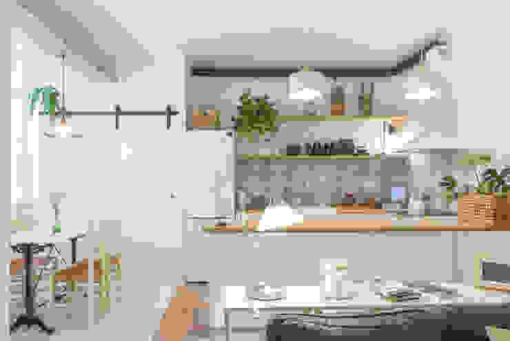 Cocina Abierta: Cocinas de estilo  por Ópera de Domingo,