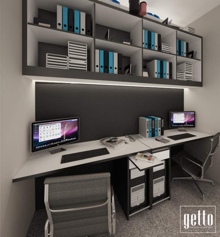 Make Over Room Kantor & Toko Gaya Eklektik Oleh Getto_id Eklektik Kayu Lapis