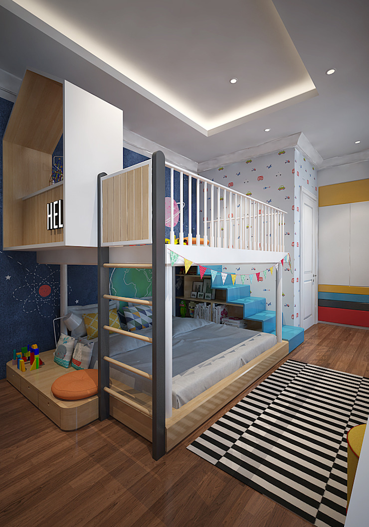 Kids Bedroom Kamar Bayi/Anak Gaya Skandinavia Oleh EIGHT IDEA Skandinavia