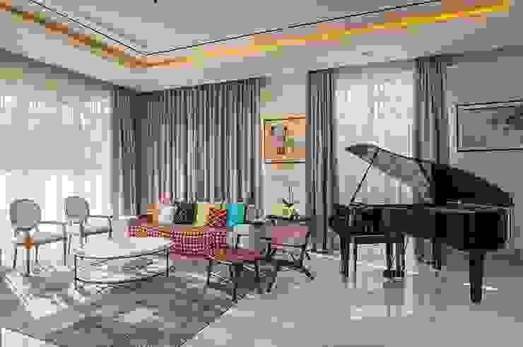 Cajuputi House Ruang Keluarga Gaya Eklektik Oleh EIGHT IDEA Eklektik