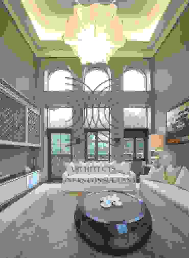 態度決定高度‧格局決定結局│客廳 大真室內裝修設計有限公司 Living room Solid Wood Wood effect