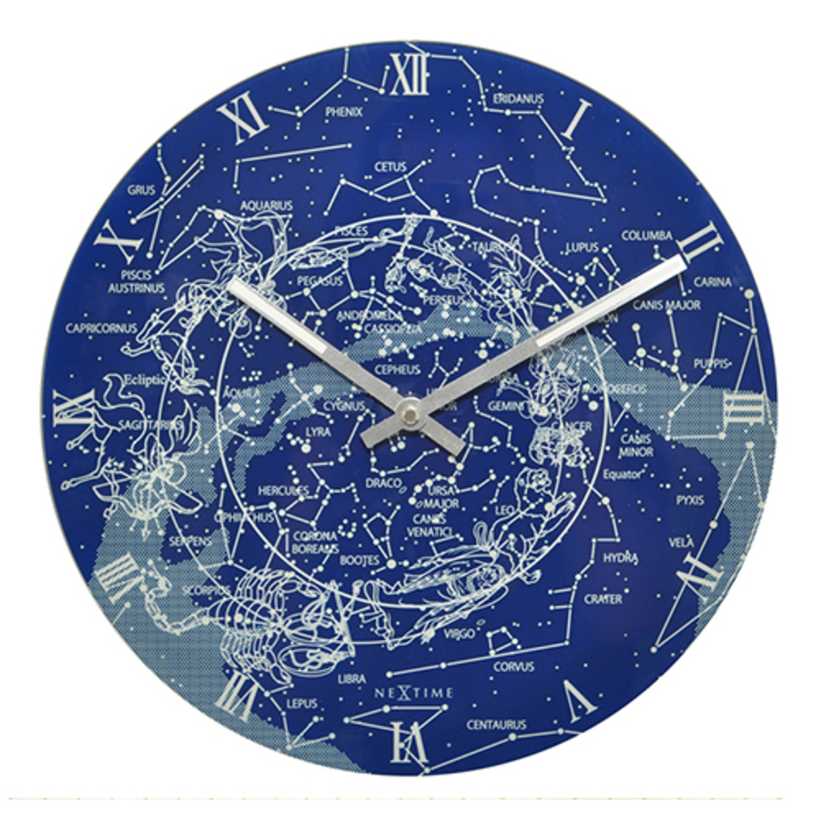 Nextime Milky Way Wall Clock: modern  by Just For Clocks,Modern Glass