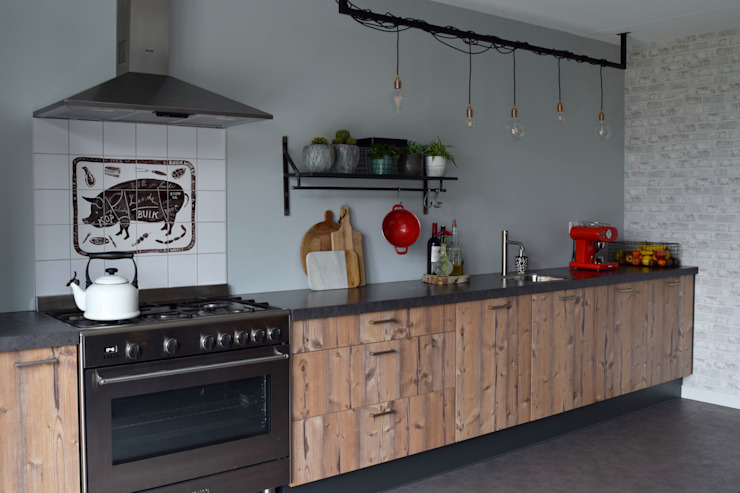 Industrial style kitchen by Atelier09 Industrial
