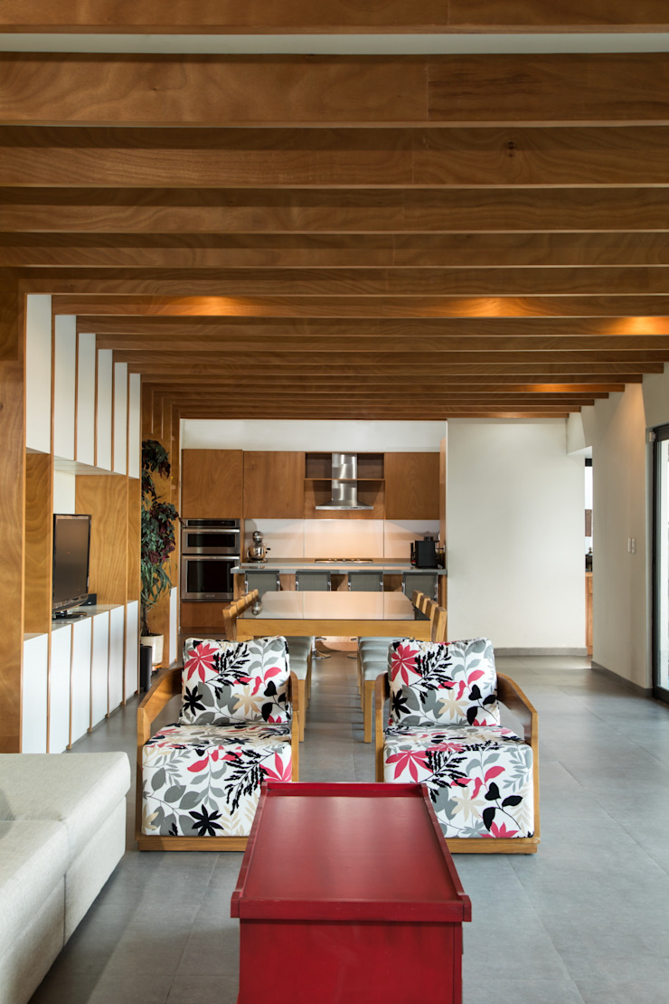 Casa Encino Livings modernos: Ideas, imágenes y decoración de LGZ Taller de arquitectura Moderno