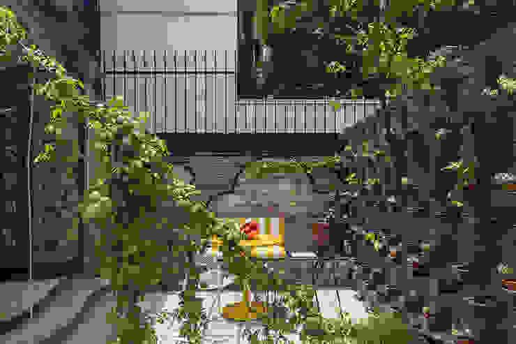 Hotel Pug Seal - Germán Velasco Arquitectos Jardines de estilo moderno de homify Moderno Metal