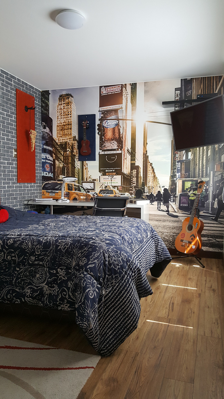 Vivienda Sachaca Dormitorios de estilo moderno de B+ Studio Moderno