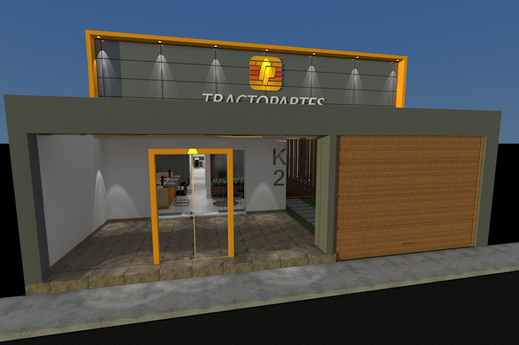 Diseño Oficina Comercial de B+ Studio Moderno