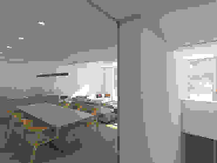 Habitação Tereno Modern Living Room by Grupo Norma Modern