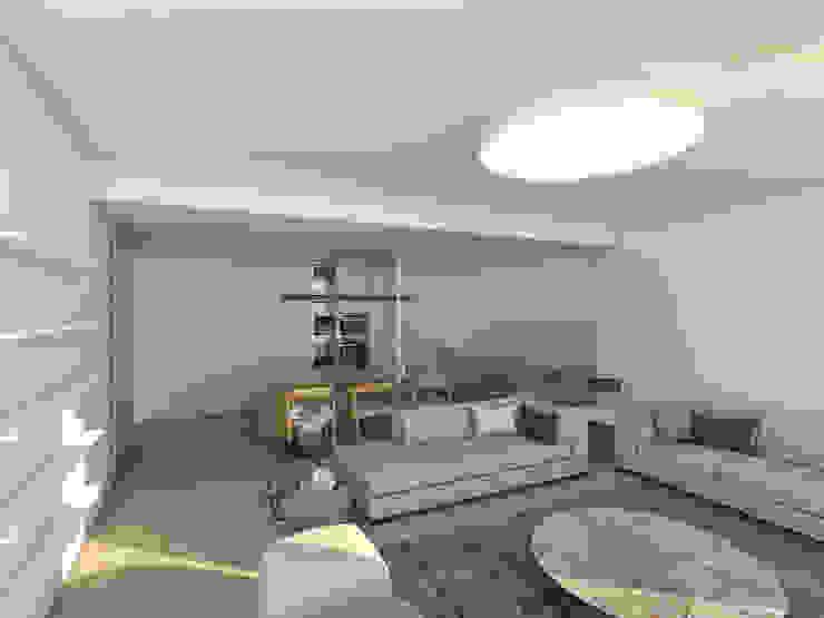 Salas de estar minimalistas por Grupo Norma Minimalista