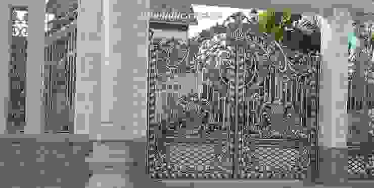 Cổng cửa hợp kim nhôm đúc Hóa Lá Tây bởi Công ty cổ phần nhôm đúc Fuco