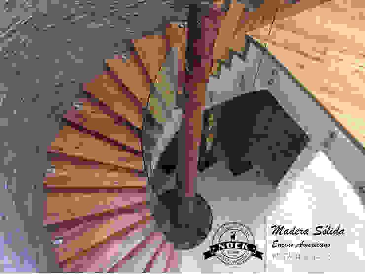 Piso de madera de ENCINO Noek Pisos de Madera y Carpintería Escaleras Madera Acabado en madera