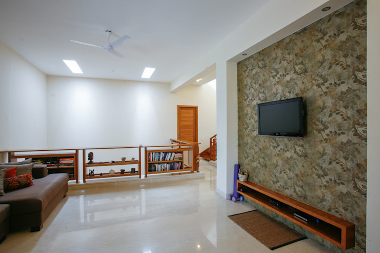 1st Floor Living Room Modern living room by The Workroom Modern