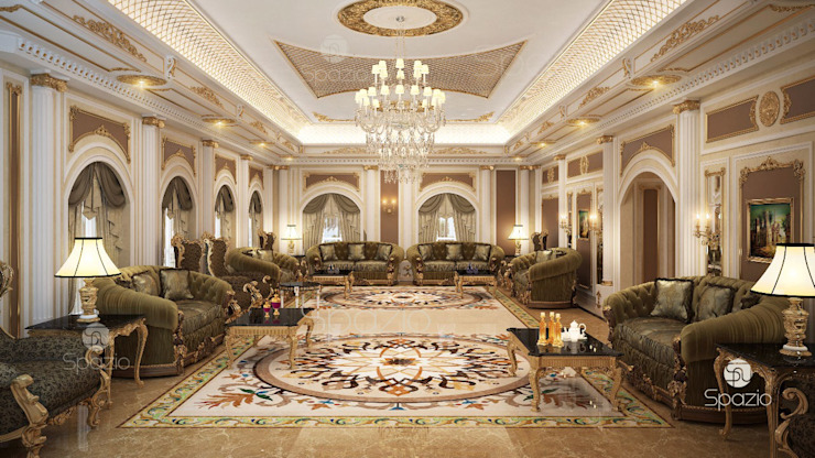 ​Luxury Majlis interior design in Dubai by Spazio Interior Decoration LLC Classic