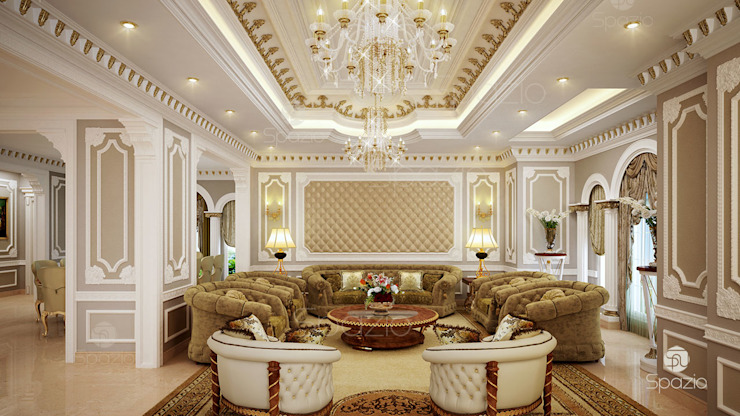 ​Luxury Arabic majlis interior design in Dubai by Spazio Interior Decoration LLC Classic