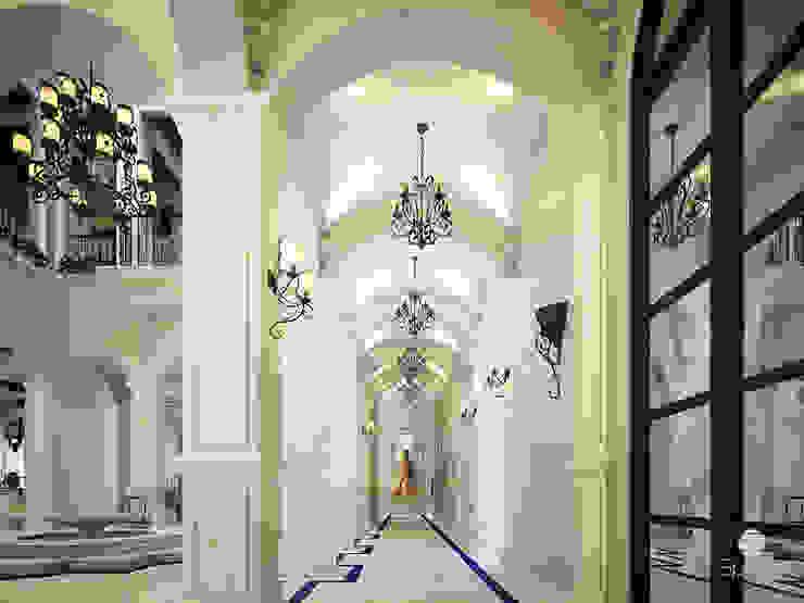:  الممر والمدخل تنفيذ Spazio Interior Decoration LLC,كلاسيكي رخام