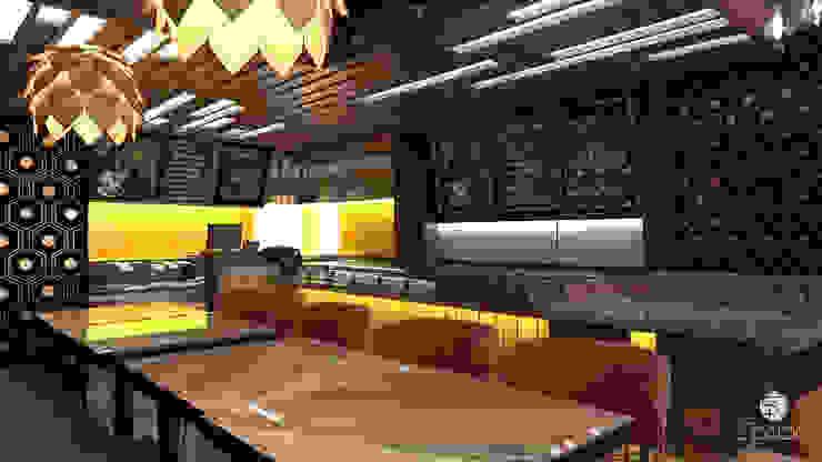Interior design of a small cafe in Dubai by Spazio Interior Decoration LLC Modern
