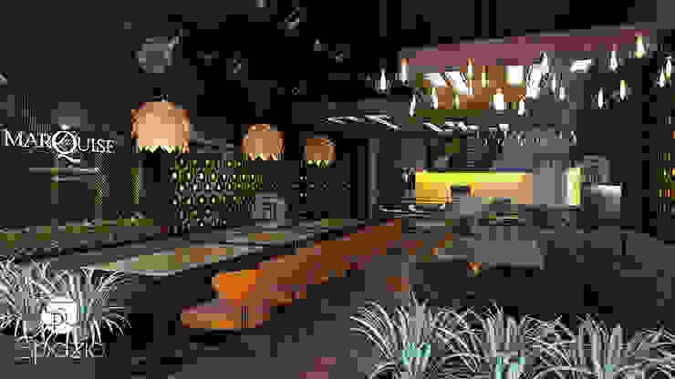 Modern interior design of a Dubai small cafe by Spazio Interior Decoration LLC Modern