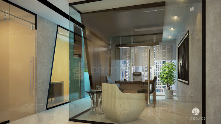 Modern office interior design by Spazio Interior Decoration LLC Modern