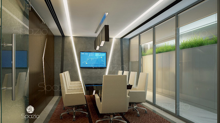 The meeting room interior design for an office in Dubai by Spazio Interior Decoration LLC Modern