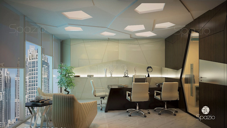 Office interior design in modern style in Dubai by Spazio Interior Decoration LLC Minimalist