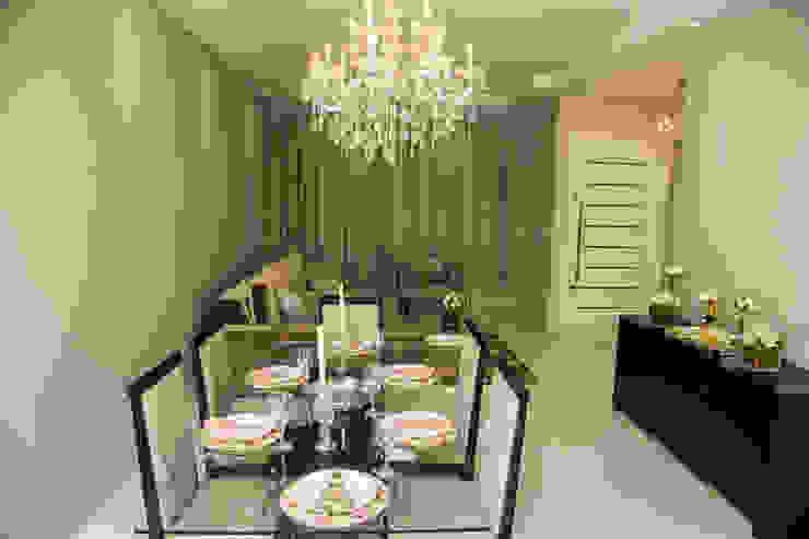 Carla Monteiro Arquitetura e Interiores Minimalist dining room