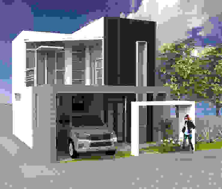 現代房屋設計點子、靈感 & 圖片 根據 AM Arquitectura 現代風