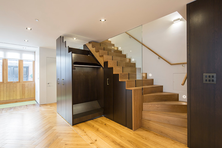 8 Harley Place 乡村风格的走廊,走廊和楼梯 根據 Sonnemann Toon Architects 鄉村風