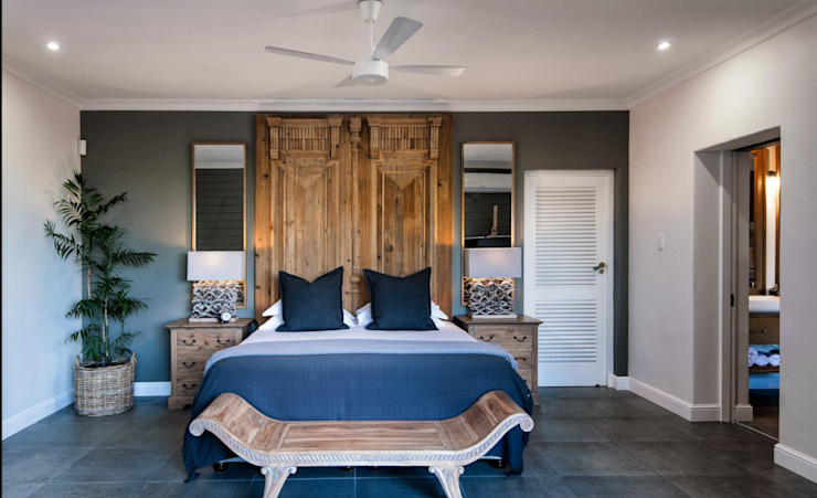 BEACH HOUSE Eclectic style bedroom by JSD Interiors Eclectic Tiles