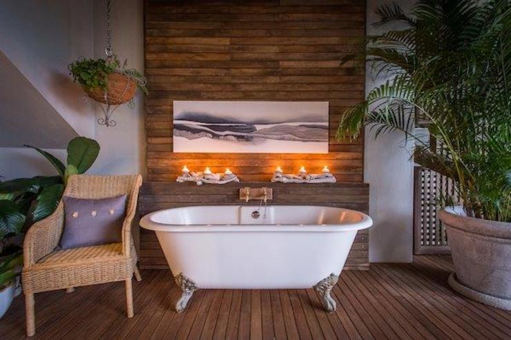 BEACH HOUSE Eclectic style bathroom by JSD Interiors Eclectic Wood Wood effect