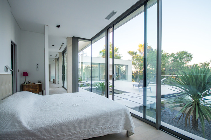 Kamar Tidur Minimalis Oleh Brengues Le Pavec architectes Minimalis