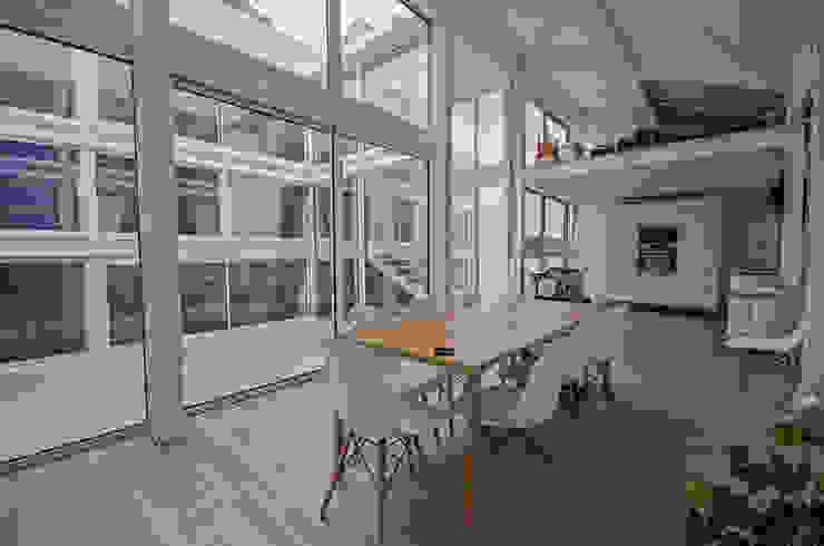 RUX Salle à manger minimaliste par Brengues Le Pavec architectes Minimaliste
