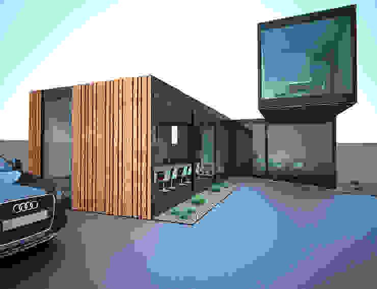 O contentor de vidro Stands de automóveis modernos por Atelier 72 - Arquitetura, Lda Moderno Ferro/Aço