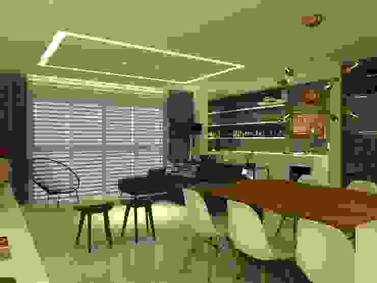 APT NR - BLUMENAU SC: Cozinhas  por Arching - Arquitetos Associados