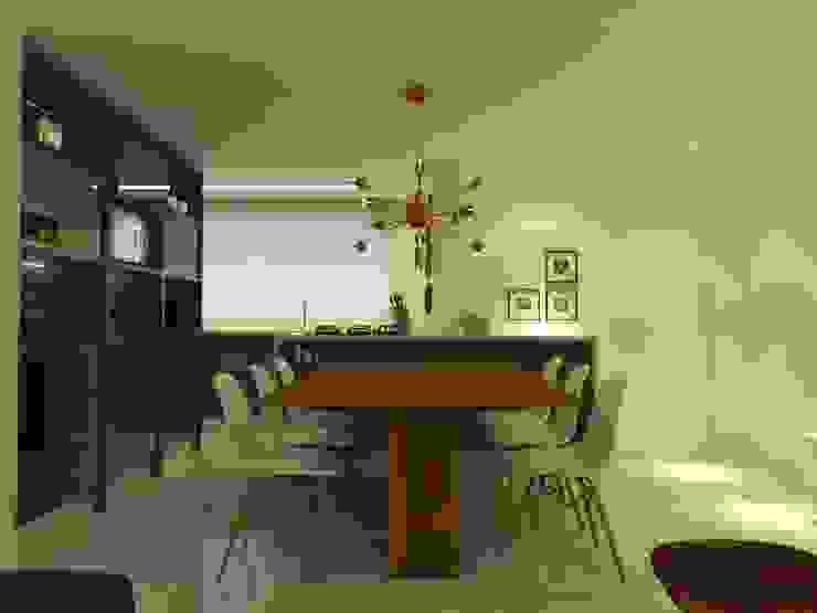 APT NR - BLUMENAU SC: Salas de jantar  por Arching - Arquitetos Associados