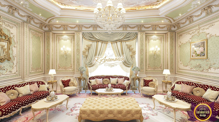 Luxury living room design ideas from Katrina Antonovich by Luxury Antonovich Design Classic