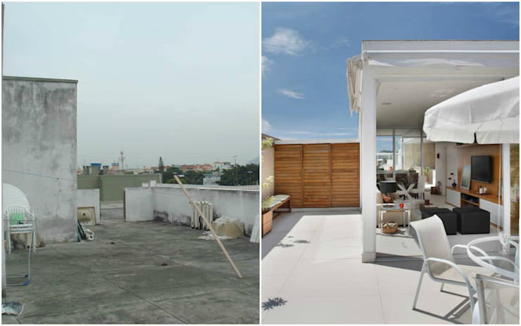 Cobertura Jardim Oceânico por Carolina Mendonça Projetos de Arquitetura e Interiores LTDA