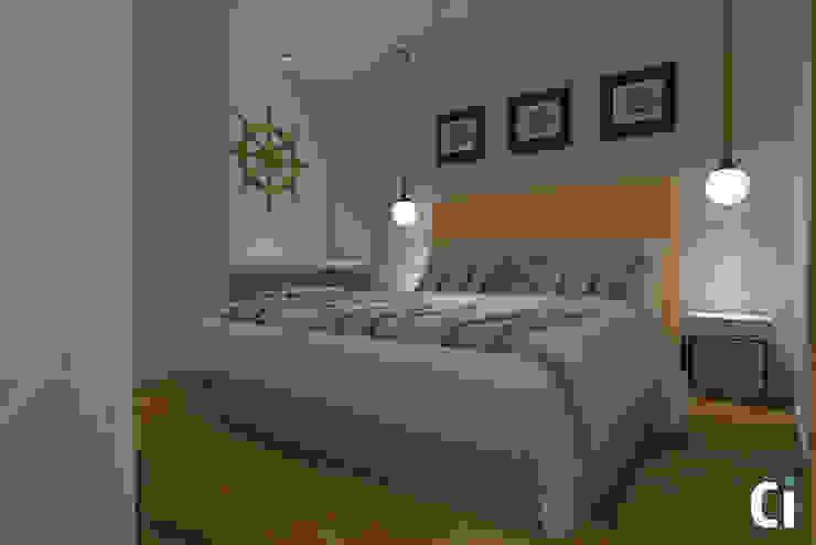 Ci interior decor Modern style bedroom Yellow