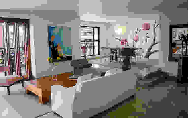 Salas de estilo ecléctico de Tejero & Ángel Diseño de Interiores Ecléctico