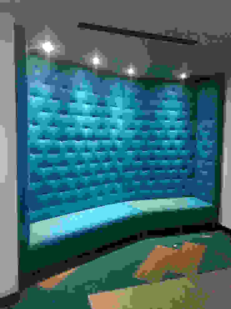 Sofá sala reuniones y audiovisuales de CMS Mobiliario Clásico Textil Ámbar/Dorado