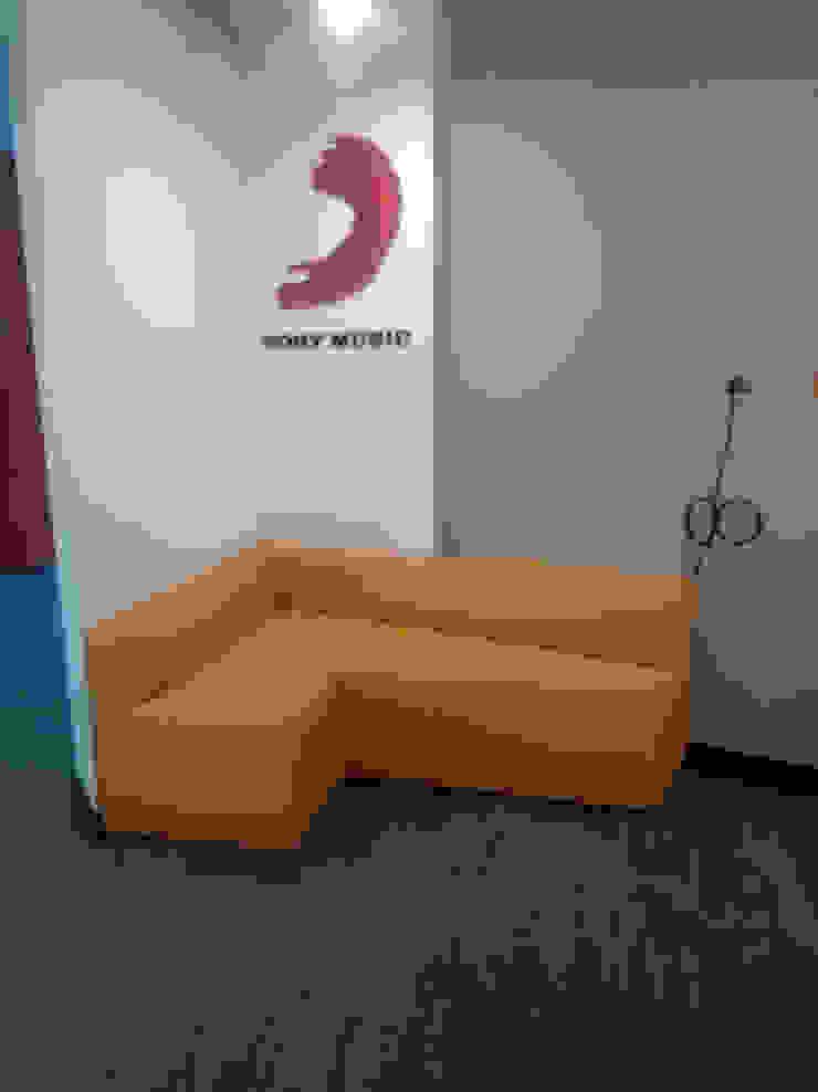 Sofá recepción de CMS Mobiliario Moderno Sintético Marrón
