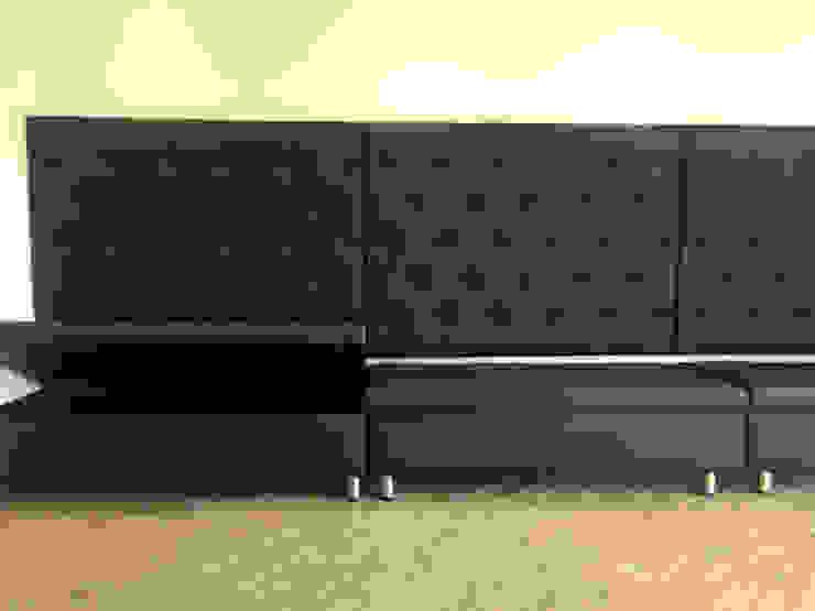 Sofá cafeteria de CMS Mobiliario Moderno Sintético Marrón