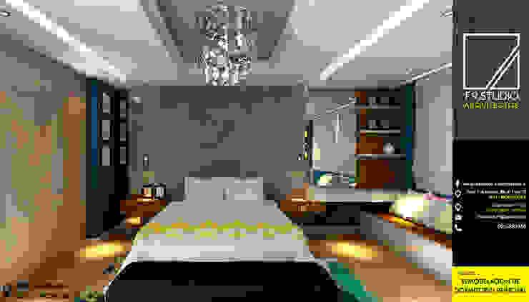 Vista Frontal del Dormitorio: Dormitorios de estilo  por F9.studio Arquitectos,
