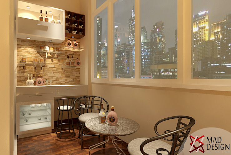BAR AREA VIEW Modern wine cellar by homify Modern