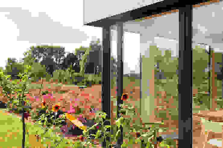 Eckfenster Wohnraum ARCHITEKTEN BRÜNING REIN Moderne Fenster & Türen