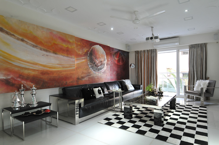 Site at Vile Parle Eclectic style living room by Mybeautifulife Eclectic