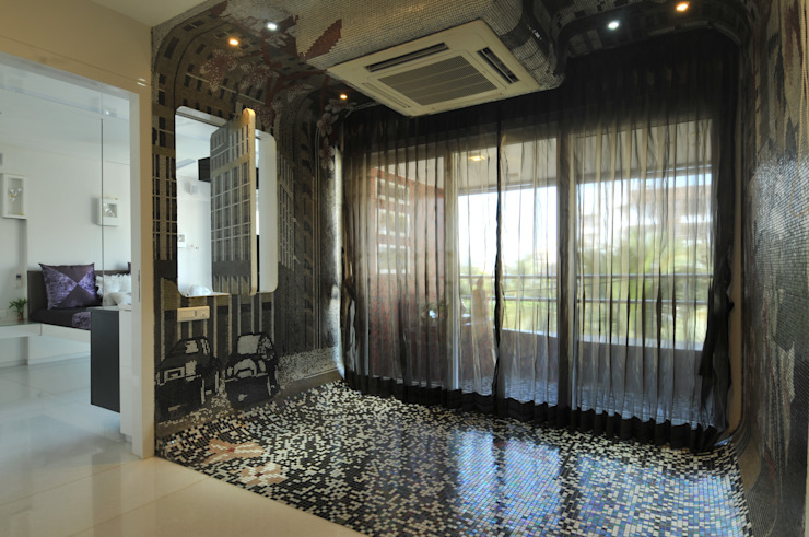 Site at Vile Parle Classic style corridor, hallway and stairs by Mybeautifulife Classic