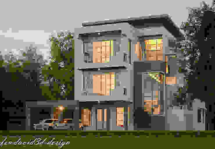 บ้าน3ชั้น โมเดิร์นลอฟต์ ซ.ลาดกระบัง18 คุณณัฐลดา ขำหรุ่น โดย fewdavid3d-design