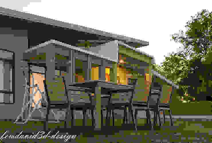 งานออกแบบบ้านพักอาศัยชั้นเดียว คุณนิรามัยฯ อ.แปลงยาว จ.ฉะเชิงเทรา โดย fewdavid3d-design